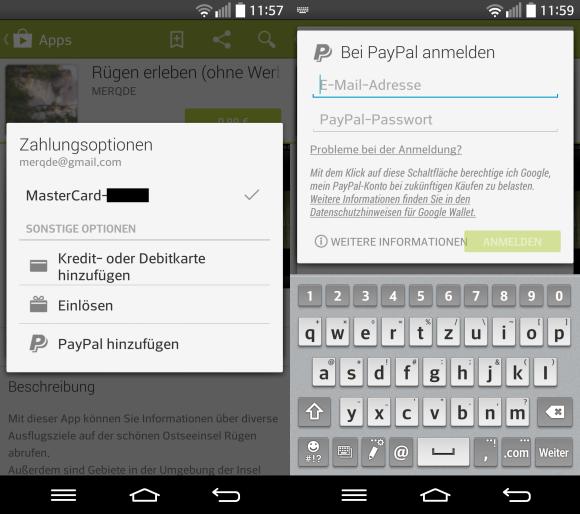 Mit Google Play Bezahlen